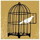 Poster Print Wall Art entitled Birdcage Silhouette II