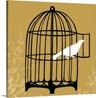 Premium Thick-Wrap Canvas Wall Art entitled Birdcage Silhouette II