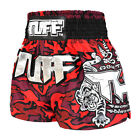 Red Camo Muay Thai Boxing Shorts Kids MMA Grappling Gym Shorts Mens Workout Girl