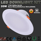 6X 25W DIMMABLE LED DOWNLIGHT KITS DIMMABLE WARM OR COOL WHITE IC-F DOWN LIGHTS