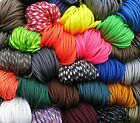 550 Paracord Mil Spec Type III 7 strand parachute cord 1,10,20,50,100' FREE SHIP