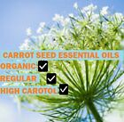 Certified Organic Carrot Seed Essential  Oil/Regular and High Carotol 10ml size