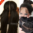 Brazilian Virgin Human Hair Wig Glueless Full Lace Lace Front Wig Black Women #x