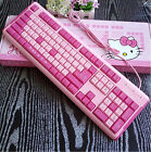 Fashion Hello Kitty USB Wired Keyboard with Gift Mouse Pad for Computer and TV