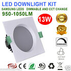 NEW 6X13W DIMMABLE LED DOWNLIGHT KIT 90MM CUTOUT SQUARE CCT WARM/COOL WHITE IC-F