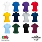 Fruit of the Loom Womens Lady-Fit Polo Shirt 65/35 Polo Plain Blank T Shirt Top