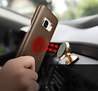 Soft Lambskin Real Leather Magnet Car Holder Back Cover Case f. Galaxy S8 / Plus