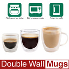 2, 3, 8, 10 oz Kitchen Clear Glasses SET Strong Double Wall Coffee Mug Tea Cups