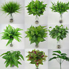 Home Garden - Artificial Plants Indoor Outdoor Fake Leaf Foliage Bush Home Office Garden Decor