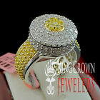 925 Silver Ladies Women Broad Face Cocktail Dual Prong Designer Casual Wear Ring