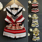 Kids Toddler Baby Girls Vest Shirt Tops+Shorts Pants Outfits Clothes 2PCS Set