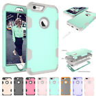 3in1 Heavy Armour Phone Case PC Back Cover Skin for Apple iPhone 6 6S 7 7 Plus