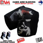 DAM ARM/ELBOW SLEEVE GREY CAMO POWER LIFTING WEIGHTLIFTING PATELLA SUPPORT GYM
