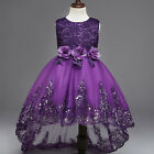 Flower Girls Wedding Bridesmaid Princess Dress for Baby Kids Party Pageant Gown