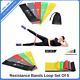 Resistance Band Loop Set Of 4 Yoga Pilates Exercise Fitness Workout Stretching