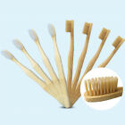 8 Packs Pure Bamboo Natural Toothbrush Environmentally Friendly Eco Adult Medium