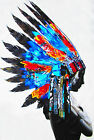 Huge American Native Indian Feather  Oil Painting Street Art Canvas Poster Color