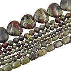 """Natural Dragon Blood Stone Gemstone Round Spacer Beads 15.5"""" 4mm 6mm 8mm 10mm"""