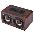 bluetooth speakers stereo - Retro Wooden Subwoofer Wireless Bluetooth Speaker HIFI Stereo Bass Dual Speakers