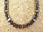 TRIPPLE 3 ROW Men's Powerful Magnetic Hematite BROWN TIGER EYE NECKLACE