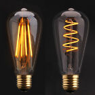 6 x E27/B22 4W/6W Filament Vintage Antique Edison Squirrel Cage Bulbs - ST64
