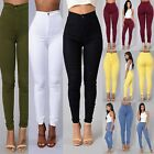 Stretchable Women Skinny Pants Denim Trousers High-Waist Slim Leggings