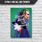 The Joker Old and New Wall Art Poster Print - A3 A4 Prints - Nicholson & Leger