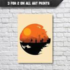 Star Wars Movie Poster - Death Star and Droids A3 A4 Wall Art Decor - Star Wars £9.35 GBP