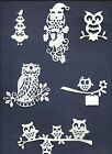 LOTS 5 - 12 PCS. SUB-SETS OWLS DIE CUTS* *READ* WISE OLD NIGHT BIRD BRANCH SIGN