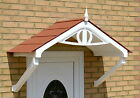 Regency Canopy Rain shade Shelter cover front porch easy DIY Apex awning White