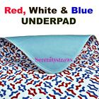UnderPad For Bed or Chair, Cotton/Poly with Waterproof Lining, Incontinence Aid