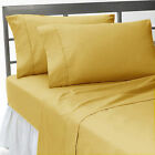 Full Size 1 pc Bedding Fitted Sheet 1000 TC 100%Egyptian Cotton All Solid Colors