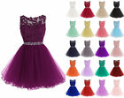 Sexy Tulle Short Style Homecoming Party Prom Gowns Bridesmaid Club Dresses 6-22+