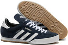 adidas Samba Mens Originals Trainers Navy Blue Suede Classic Super Indoor Casual