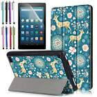 Silicone/Leather/Tri-Fold Tablet Protect Case Cover For Amazon Fire 7/HD 8/ HD10