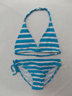 Ralph Lauren Polo Girl's Bikini Swimsuit Two Piece Swimwear Striped Pony Logo