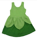 Girls Tinkerbell Green Sundress Costume Cosplay Summer Outfit Sizes 2T/3T-7/8
