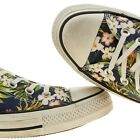 CONVERSE ALL STAR WOMENS NAVY & GREEN PINEAPPLE PRINT CASUAL PLIMSOLLS TRAINERS