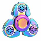 Metal Rainbow Tri Fidget Hand Spinner Triangle Brass Finger Toy EDC Focus ADHD <br/> Wholesale✔ 32 Species✔ USA Fast Shipping✔ Great Gift✔