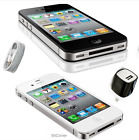 Apple Iphone 4 Verizon Cdma Cell Phone White And Black Smartphone No Contract