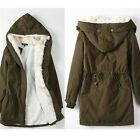Women Warm Coat Fleece Faux Fur Jacket Warm Winter Parka Overcoat Long Outwear