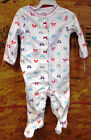 Carter's Girls footed 1 piece sleeper outfit - 3, 6 and 9 Month Sizes / Bows