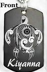 SEA TURTLE Dog tag Necklace or Key chain + FREE ENGRAVING