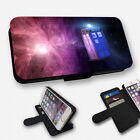 GALAXY TARDIS DOCTOR WHO FLIP PHONE CASE COVER WALLET CARD HOLDER (F)