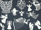 LOTS 4-12 PCS SUB-SETS ANGELS DIE CUTS* *READ* CHRISTMAS FILIGREE HORN WING HALO