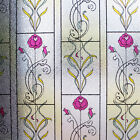 Embossed Textured Window Film Frosted Vinyl PVC Glass Decorative Privacy Rose