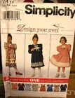 Simplicity 7411 Girls Dress Pattern MANY SIZES OOP VINTAGE