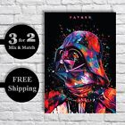 Star Wars Poster - Abstract Darth Vader Movie Posters, A3 A4 Starwars Print £4.75 GBP