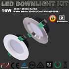 WHITE 16W LED DOWNLIGHT KIT DIMMABLE WARM LIGHT SAMSUNG SMD 5 YRS WARRANTY IP44
