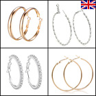 ✨hoop Earrings Round Large Small Big Fashion Jewellery Uk Seller Gold Silver ✨